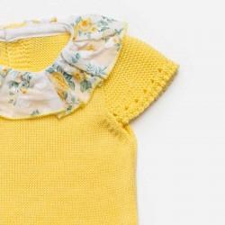 detalle vestido bebe niña corte cadera amarillo de juliana