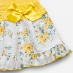 estampado vestido bebe niña corte cadera amarillo de juliana