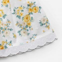 estampado vestido bebe juliana amarillo con flores