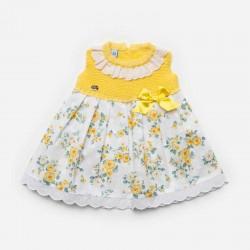 vestido bebe juliana amarillo con flores