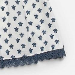 estampado tortugas azules de vestido bebe juliana