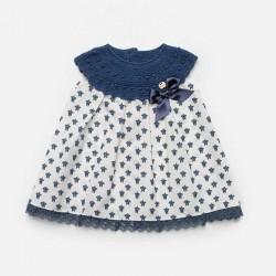 vestido bebe azul de juliana con estampado tortugas