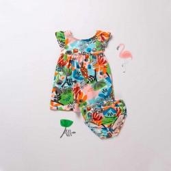 vestido bebe niña de colores boboli