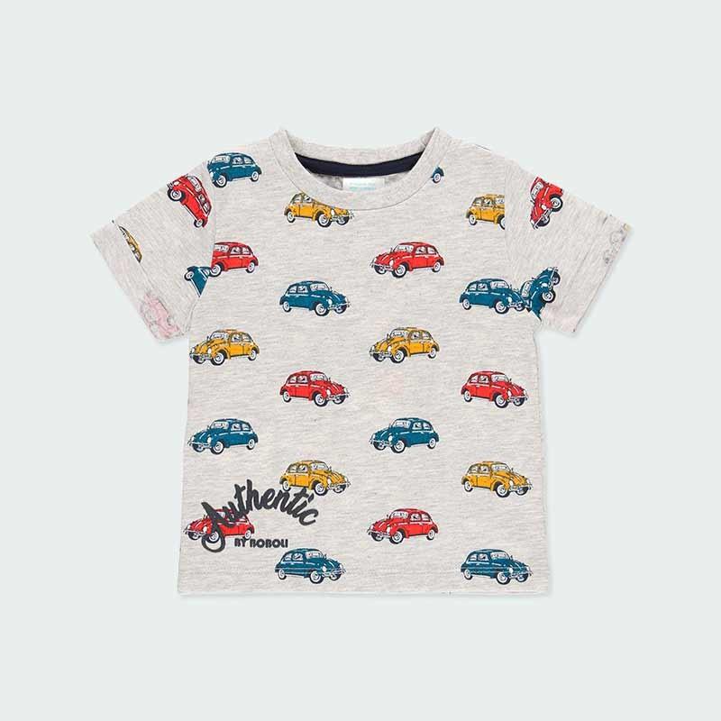 camiseta niño manga corta estampado coches