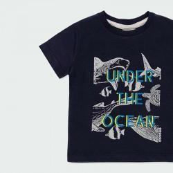 estampado original camiseta manga corta niño negra de boboli