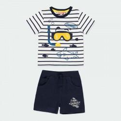 conjunto punto niño primavera verano camiseta submarinista