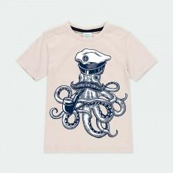 camiseta niño estampado pulpo de boboli