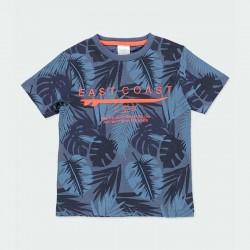 camiseta manga corta estampado azul de boboli