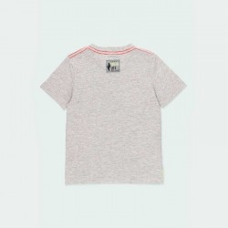 camiseta gris con calavera de lentejuelas por detrás