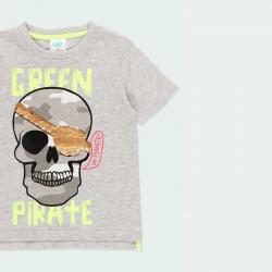 camiseta niño gris con lentejuelas doradas