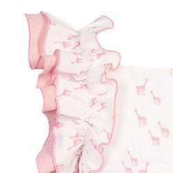 detalle vestido niña eve children estampado jirafas rosa