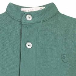 polo verde niño de eve children con cuello mao