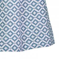 estampado geométrico azul de eve children
