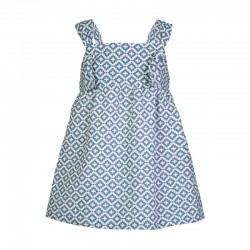 vestido niña eve children estampado geométrico azul