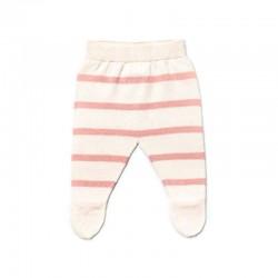 polaina bebe rayas rosa de liandme