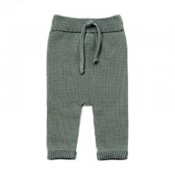 pantalón bebe de algodón sin costuras verde mint