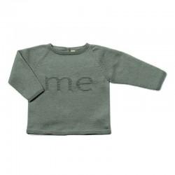 jersey de punto sin costuras para recién nacido verde mint