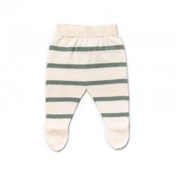 polaina recién nacido a rayas verde mint de liandme