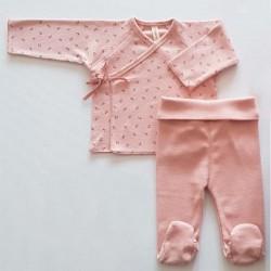 conjunto primera puesta bebe niña rosa de lillymom