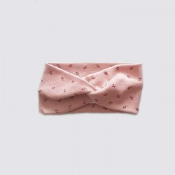 turbante bebe rosa con flores de lillymom