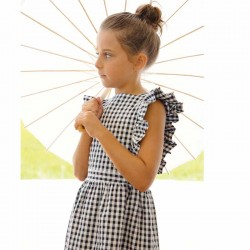 niña con vestido cuadro vichy de eve children
