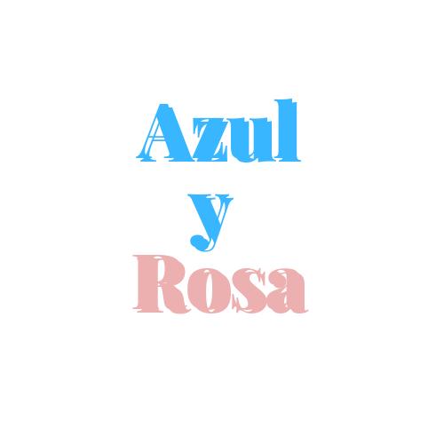 diademas y lazos azul y rosa