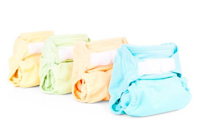 pañales tela de bebé en colores